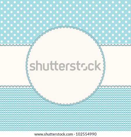 Blue babies background with frame - stock vector
