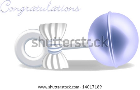 Blue Baby Rattle - stock vector