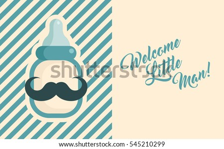 Blue baby shower invite greeting card stock vektr 545210299 blue baby shower invite greeting card m4hsunfo