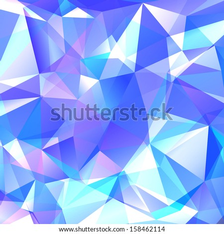 blue background polygon - stock vector