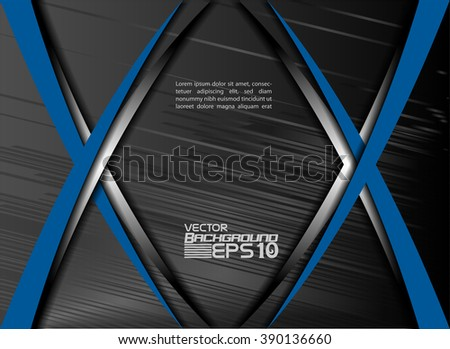 Blue background vector overlap dimension 3d graphic metal color message board for text and message design frame line shadow for modern web design eps10 infographic  - stock vector