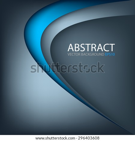 Blue background vector pastel and blue line curve with space for text design - stock vector