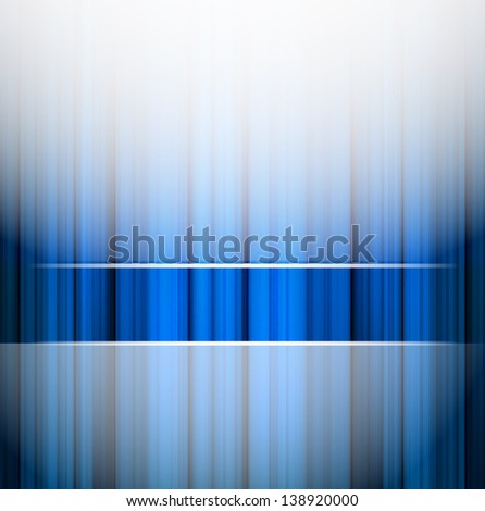 blue background with abstract stripes - stock vector