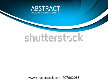 Blue background with blue line on white space for text and message modern artwork design - stock vector