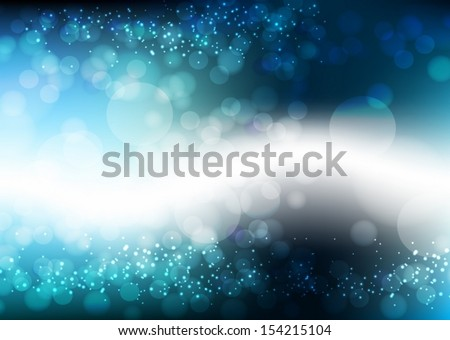 Blue Background With Bokeh And Blur. Vector EPS 10 illustration. - stock vector