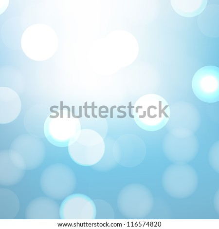 Blue Background With Bokeh And Blur, Vector Illustration - stock vector