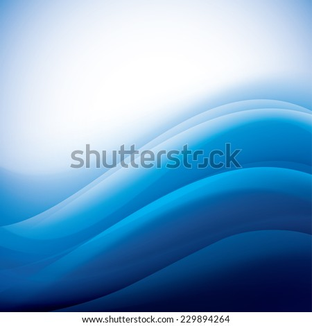 blue background with folding waves - stock vector