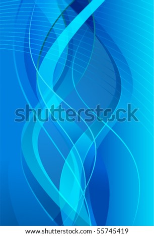 Blue background with lines - stock vector
