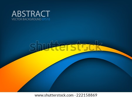 Blue background orange yellow curve line stock vector 222158869 blue background with orange yellow curve line paper layer overlap for text and message modern website altavistaventures Gallery