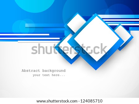 Blue background with squares - stock vector