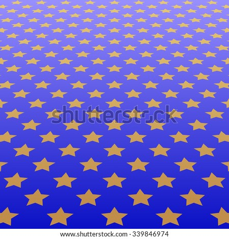 blue background with stars pattern - stock vector