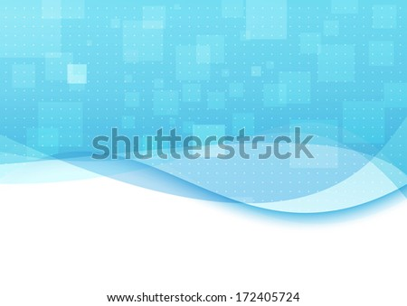 Blue background with transparent waves. Vector illustration