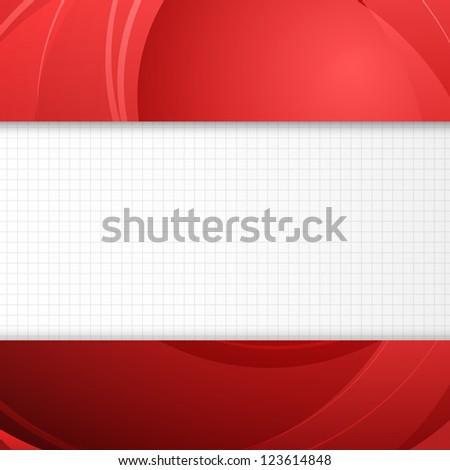 Blue banner for your text. Vector illustration. - stock vector