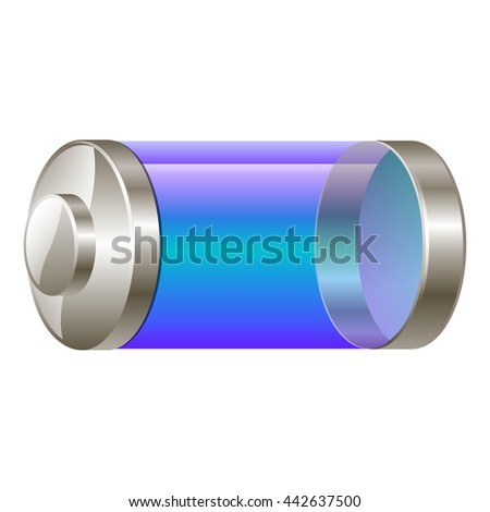 Blue battery. battery symbols isolated on white background - stock vector