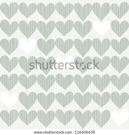 blue beige white romantic seamless pattern with rows of hearts in winter colors