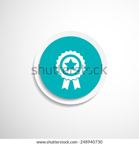 blue best of badge with ribbon icon award  champion label - stock vector