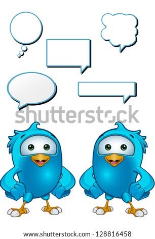 Blue Bird - Hands On Hips - stock vector