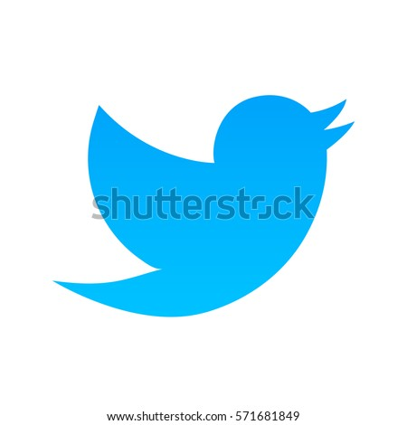 Blue bird on a white background