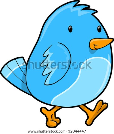 Blue Bird Vector Illustration - stock vector