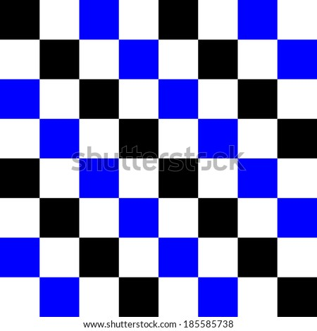Blue, black and white pixel pattern, background for a tile. Vector illustration. - stock vector