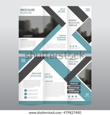Folded Brochure Stock Images RoyaltyFree Images Vectors - A4 tri fold brochure template
