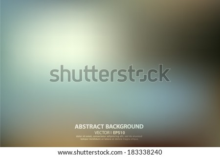 Blue blurred abstract background. Vector EPS 10 illustration. - stock vector