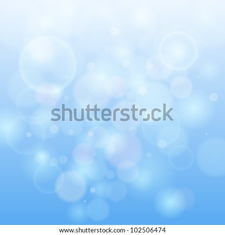 Blue bokeh abstract light background. Vector illustration. - stock vector
