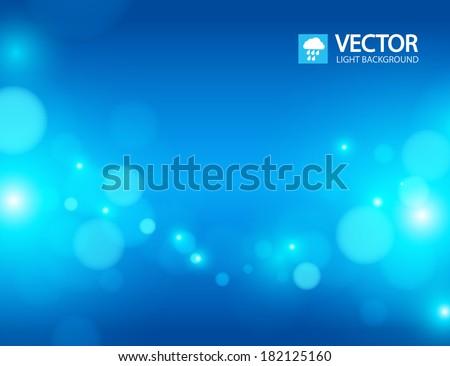 blue bokeh background - stock vector