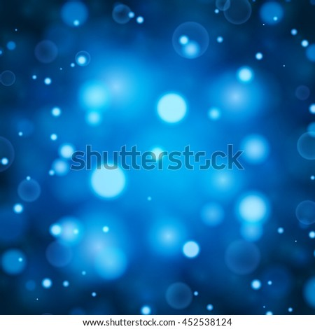 Blue bokeh lights defocused. Abstract background. - stock vector