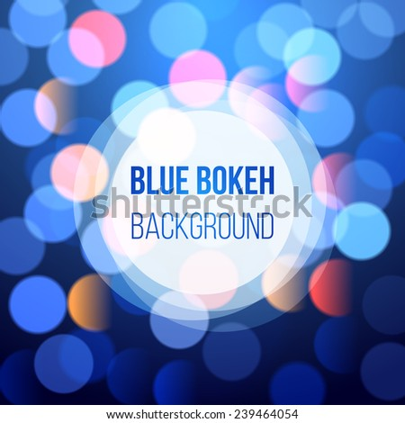blue bokeh lights for your designs - stock vector