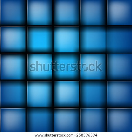 Blue bricks abstraction vector background - stock vector