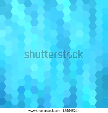 blue bright abstract hexagon background - stock vector