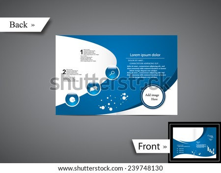 Blue Brochure  - stock vector