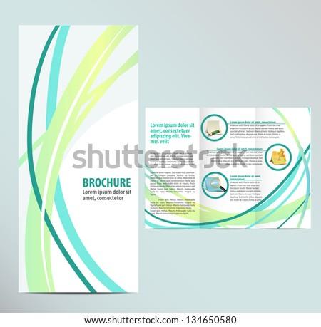 Blue Brochure Template - stock vector