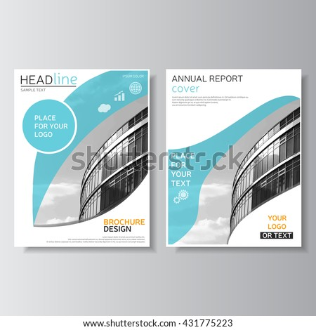 blue brochure template annual report cover leaflet design flyer layout magazine cover