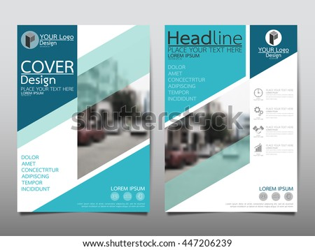 blue business annual report brochure flyer design template vector leaflet cover presentation abstract geometric background
