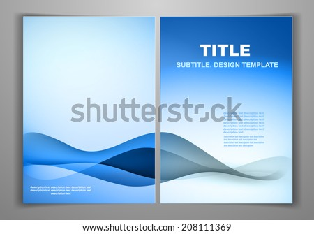 Blue Business Front Back Flyer Template Stock Vector 208111369