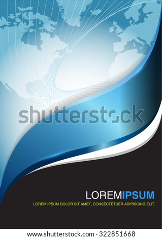 Blue business vector design. Abstract background for flyer, brochure or poster.   - stock vector