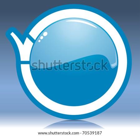 blue button - stock vector