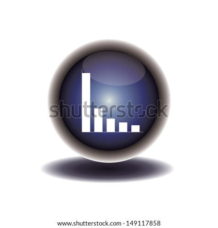 blue button diagram icon. vector illustration - stock vector