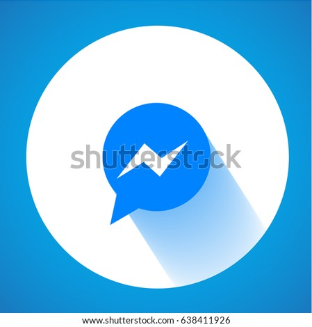 Blue Button Icon Vector Background Download Stock Vector 638411926