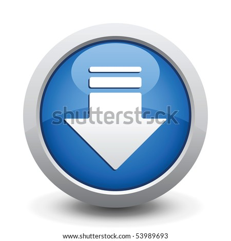 Blue Button. Vector illustration. - stock vector