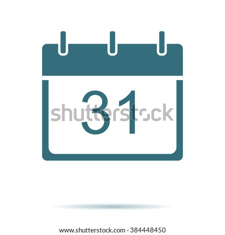 Blue Calendar icon isolated on background. Modern simple flat date sign. Business internet concept. Trendy mono vector plane day symbol for website design, web button, mobile app. Logo illustration  - stock vector