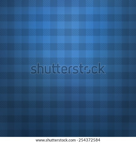 Blue Checkered Background - stock vector