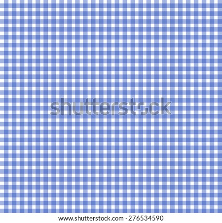 Blue chequered tablecloth texture, repeatable, seamless pattern