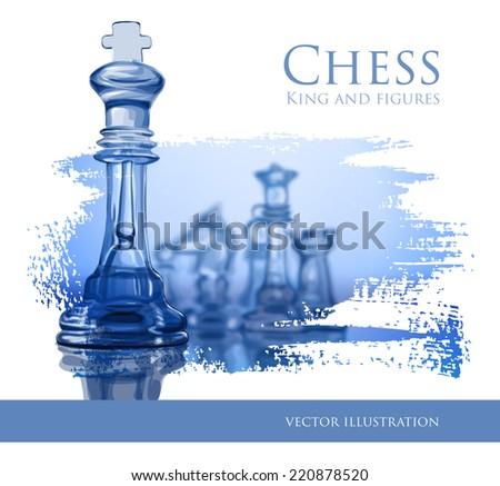 Blue Chess - vector illustration - stock vector
