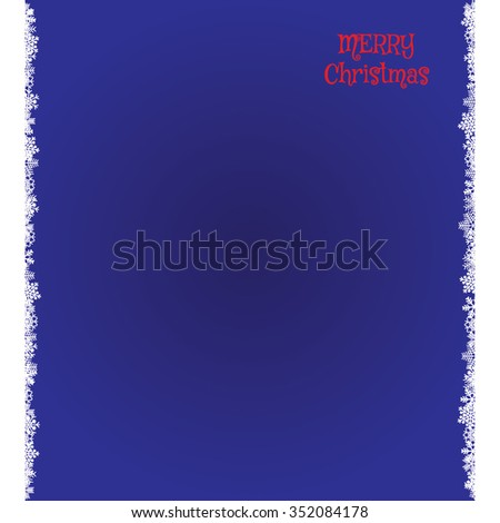 Blue  Christmas backdrop with snowflakes. EPS image. - stock vector
