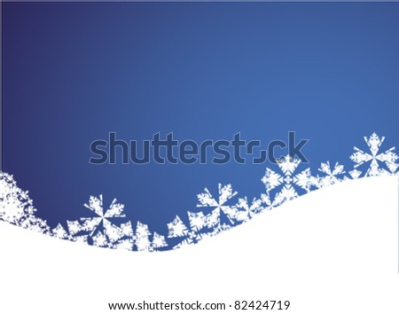 Blue christmas background EPS vector illustration - stock vector