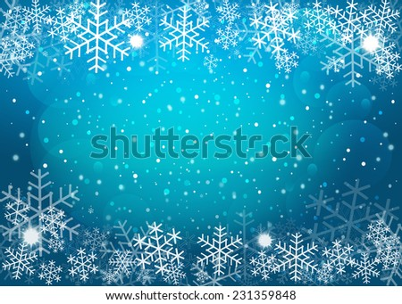 Blue Christmas background. Vector EPS10. - stock vector
