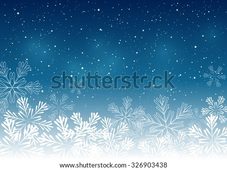 Blue Christmas snowflakes background. - stock vector